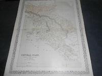 1860 CARTA GEOGRAFICA ITALIA CENTRALE GRAN DUCATO TOSCANA STATO DELLA CHIESA