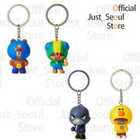 Official Line Friends x Brawl Stars Figure Key Ring Authentic +Free Tracking