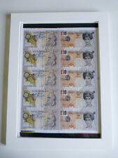 ORIGINAL Banksy Di Faced Tenners FULL uncut sheet / UN SIGNED / Printers proof