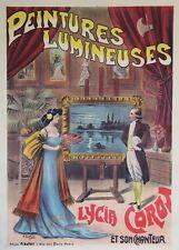 """""""PEINTURES LUMINEUSES / Lycia COROT"""" Affiche entoilée Litho A. DUPUIS 103x143cm"""