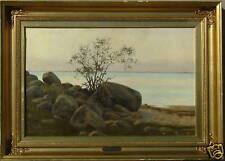 N F SCHIOTTZ-JENSEN 1884 DENMARK BEACH BOULDER TREE LANDSCAPE SALES TO $56,000