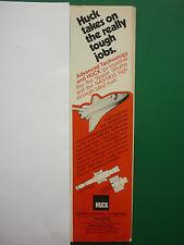 1977-78 PUB HUCK MANUFACTURING HUCK NAS1900 A286 FASTENER SPACE SHUTTLE RIVET AD