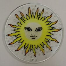 Painted Glass Sun Catcher Face In Sun Qty 6 Window Hang 2 Holes Cl8Y