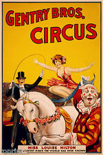 CIRCUS VINTAGE PRINT PHOTO ART POSTER ADVERTISING ANTIQUE