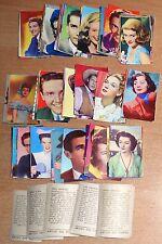 ED.ASTRA FIGURINE  ARTISTI DEL CINEMA 1951  BLOCCO DI 234 FIGURINE ORIGINALE !!!