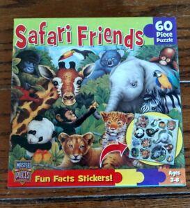 NIB! Safari Friends 60 Piece Children's Puzzle Masterpieces