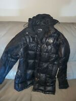 Womens The NORTH FACE Black Metropolis Hooded 600 Down Parka Jacket small