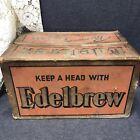 "Rare Vintage Keep A Head With EDELBREW Beer Box Carton Cardboard 17""x11""x10"""
