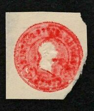 US 1915 #U429 - Overinking Error - 2c Carmine Red Washington Cut Square