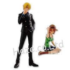 One Piece Sanji Nami Figure Doll Collection Anime Toy Present 2pcs/set