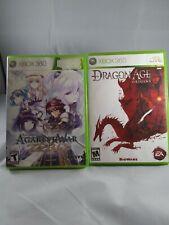 2 Xbox360 Games: Dragon Age: Origins & Agarest War Zero Rated M-T Complete