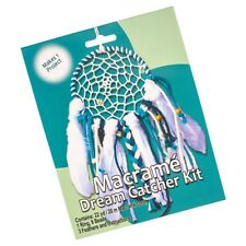 Craft County Macramé Dream Catcher Kit for Wall Hanging Decor with Feathers