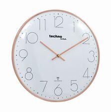 Funkwanduhr WT 8235 rosegold Durchmesser 35 cm edel Metallrahmen rund analog