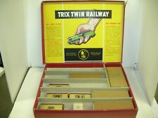 TRIX TWIN RAILWAY EMPTY SET W/ENGINE/CARS BOXES -  LID TORN OFF - MAKE OFFERS!