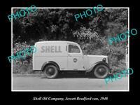 OLD POSTCARD SIZE PHOTO OF SHELL OIL COMPANY JOWETT BRADFORD VAN 1948 NZ 1