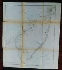 1877 U.S. Coast Survey Sketch Map Triangulation NY City to Cape Henlopen