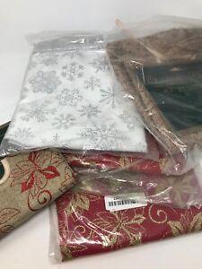 "Christmas Tree Skirt Glittery 47.2"" Holiday Elegance"