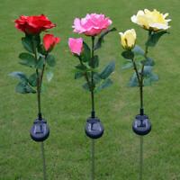 Outdoor Solar Powered Flower LED Light Yard Garden Lawn Landscape Lamp H UHN