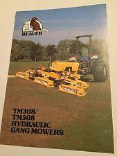 HAYTER Beaver Equipment Hydraulic Gang Mowers Original 1970s Vintage Brochure