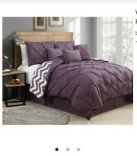 AvonDale Manor Bed In A Bag, Size: Queen 7pc Plum New