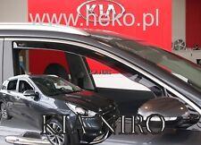 KIA NIRO 5 DOOR 2016-UP SET OF FRONT WIND DEFLECTORS 2pc HEKO TINTED