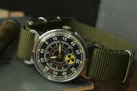 Pobeda Vintage Mens Mechanical Watch Radiation Russian chemical biological troop