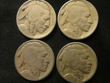 1924 P - 1925 P - 1926 P - 1927 P FULL DATE BUFFALO NICKELS ALL 4 FOR 1 PRICE