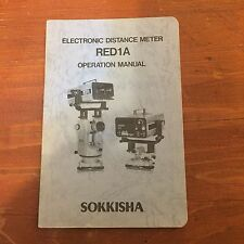 SOKKISHA RED1A EDM OPERATION MANUAL SURVEYING