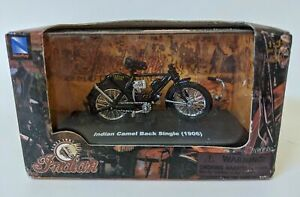 2005 New Ray 1:32 Scale 1906 INDIAN Camel Back Single Toy Motorcycle in Case NEW