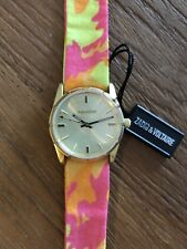 ZADIG&VOLTAIRE - ZVF205 Gold/ Multicolor Cloth Bracelet Watch UNISEX- 50% OFF