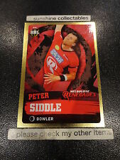 2015/16 TAP N PLAY CRICKET GOLD PARALLEL CARD NO.117 PETER SIDDLE BBL