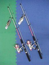"""Okuma Steeler 6'6"""" Rod & Reel Spinning Combo PINK 2 Pack #SLR-662-40PK"""