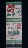 7-Up Fresh Up/Buy It By The Case vintage Matchbook Cover