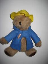 "Vintage 9"" PADDINGTON TEDDY BEAR Blue Coat Plush Stuffed Animal Toy"
