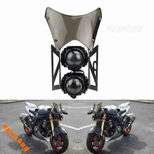 Motorcycle E-mark / DOT Street Fighter Projector Dual Headlight With Windscreen