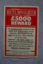 Return of the Jedi Reward Poster poster for stolen film__