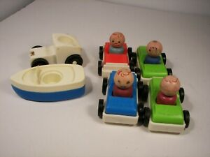Vintage 1963 Fisher Price Little People Amusement Park #932 Cars Boats People +