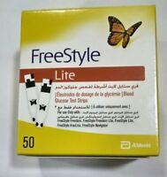 100 PCs (50*2) Freestyle Lite Diabetic Glucose Blood Test Strips Exp 07/2020
