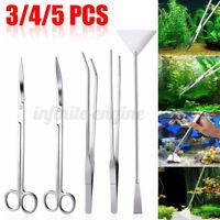3/4/5 Pcs Aquarium Live Plant Aquascaping Scissor Tweezers Trimming Tool Trim Д