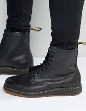 Doc Dr.Martens Size 6 Lace Up Black Combat Boots Womens Moto Leather Ankle