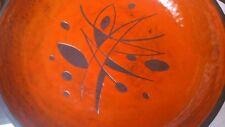 Beau plat céramique vintage années 50 60 ateliers Rois de Majorque era Lurçat