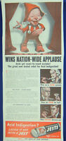 ORIG. 1940 Jests Antacid Print Ad Laugh it Off When You Eat Drink Smoke Too Much