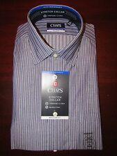 mens chaps ralph lauren stretch collar dress shirt L 16 x 34/35 nwt petrol blue