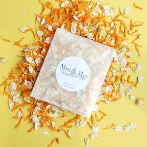 MRS & MRS Wedding Flower Confetti Sachet   Eco-Friendly & Biodegradable