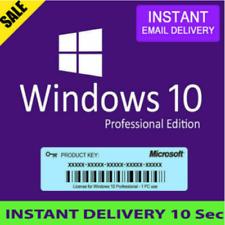 Microsoft Windows 10 Pro Professional 32/64bit LICENSE KEY INSTANT DELIVERY