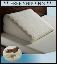 New! Memory Foam Bed Wedge Pillow w/ Cover Cushion Elevate Support Ships Free!
