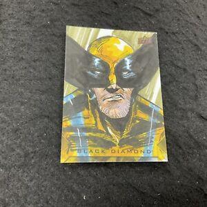 WOLVERINE Sketch Card 1/1 Artist Auto 2021 Upper Deck Marvel Black Diamond
