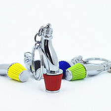 Creative Car Part Model Filter Keychain Turbo Key Ring Keyring Keyfob Holder Red