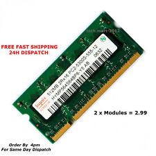 DDR2 SODIMM  Laptop RAM PC2 5300 667Mhz 200 Pin . (512 x 2 = 1gb). 2 x Modules.