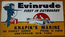 Evinrude First in Outboard Motors Boating Fishing Marina Metal Decor Sign 14x25
